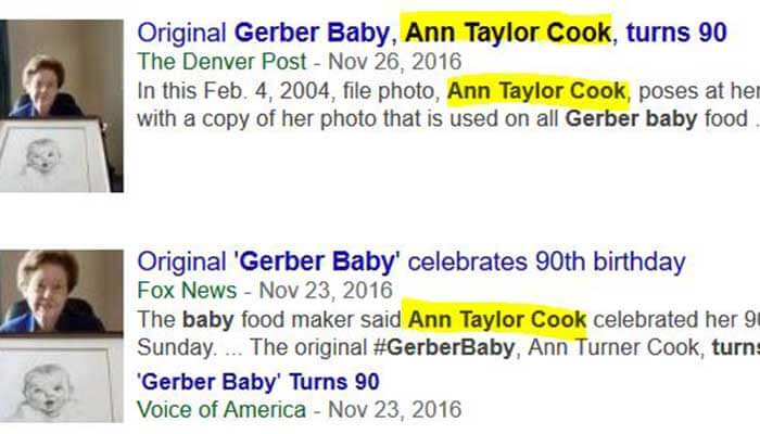 Ann Taylor Cook was an incorrect name of Ann Turner Cook.
