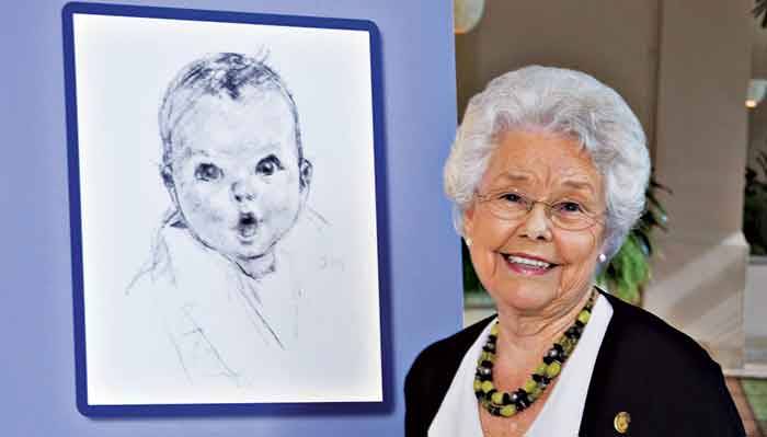 Here's one of the cutest babies, the original Gerber baby.
