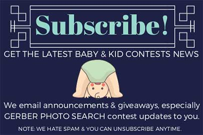 Join our baby contest newsletter.