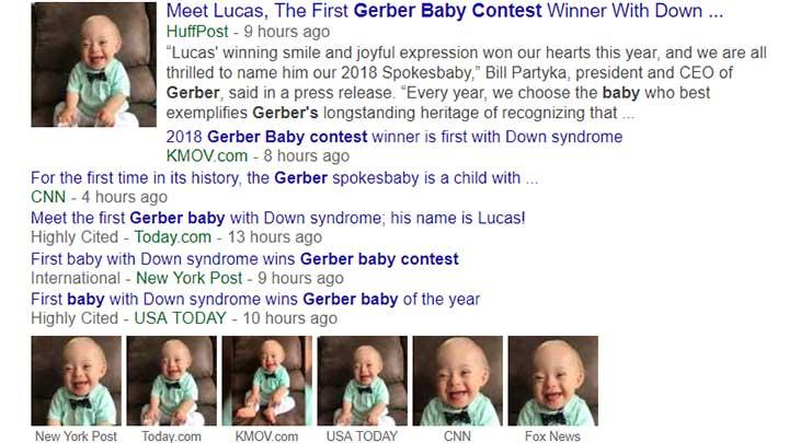 Lucas Warren Gerber baby headlining.