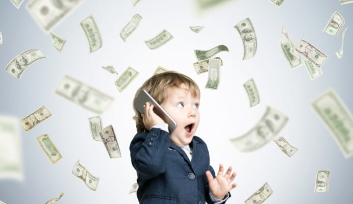 Baby winning cash prize.