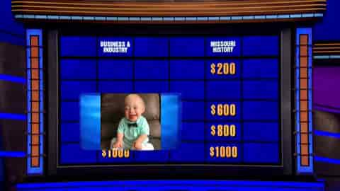 Lucas Warren on Jeopardy as a clue.